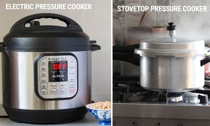 Instant Pot electric pressure cooker vs stovetop pressure cooker