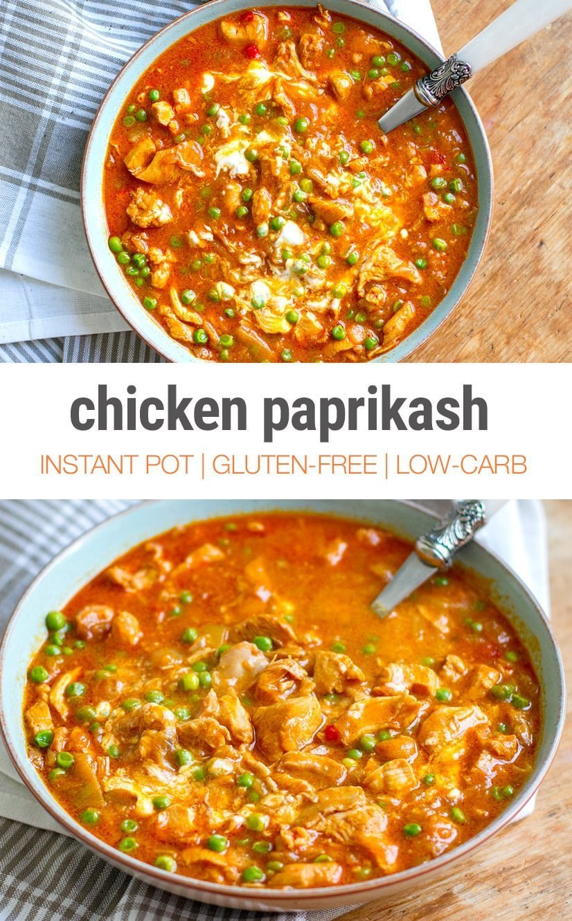 Instant Pot Chicken Paprika Stew Recipe