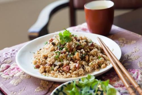 Chinese Sausage & Brown Rice