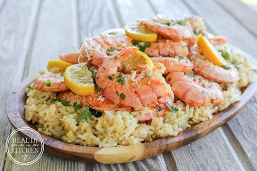 Shrimp Scampi Paella
