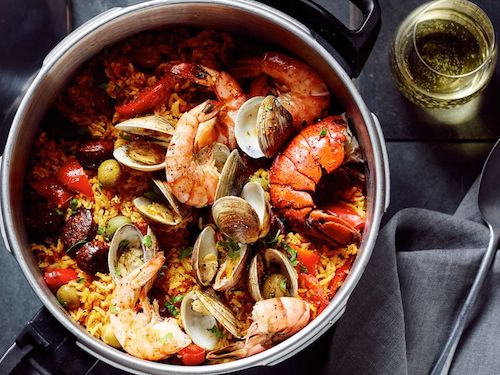 Pressure Cooker Rice Paella