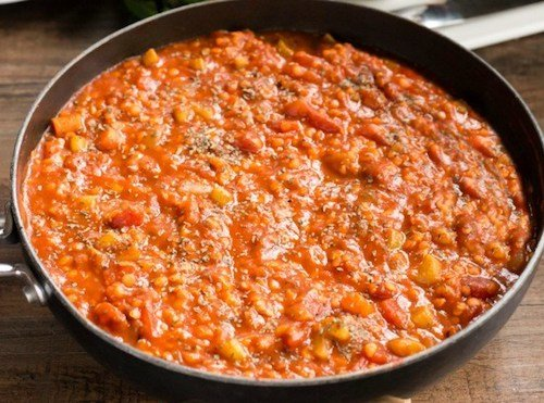 Instant Pot Lentil Bolognese Vegan