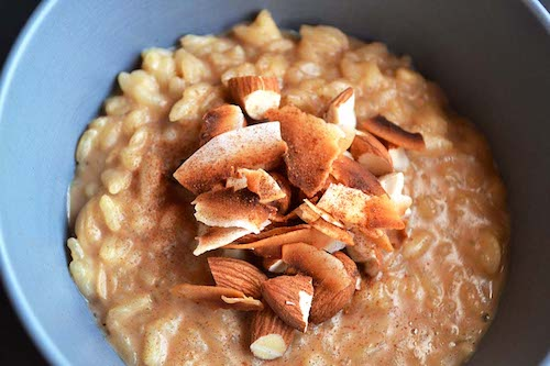 Instant Pot Coconut Almond Risotto Vegan