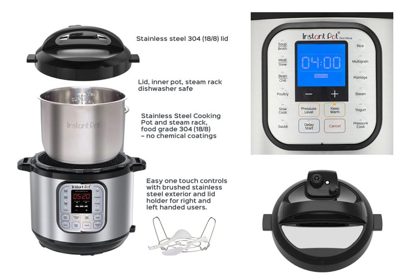Key parts of the Instant Pot