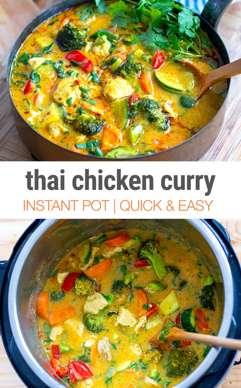 Instant Pot Thai Chicken Curry (Gluten-free, Paleo)