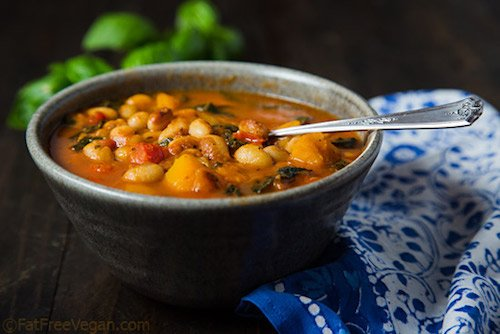 Vegan White Bean Stew With Winter Squash & Kale