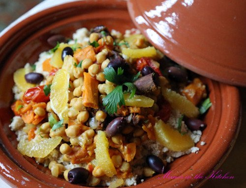 Vegan Chickpea & Sweet Potato Tagine