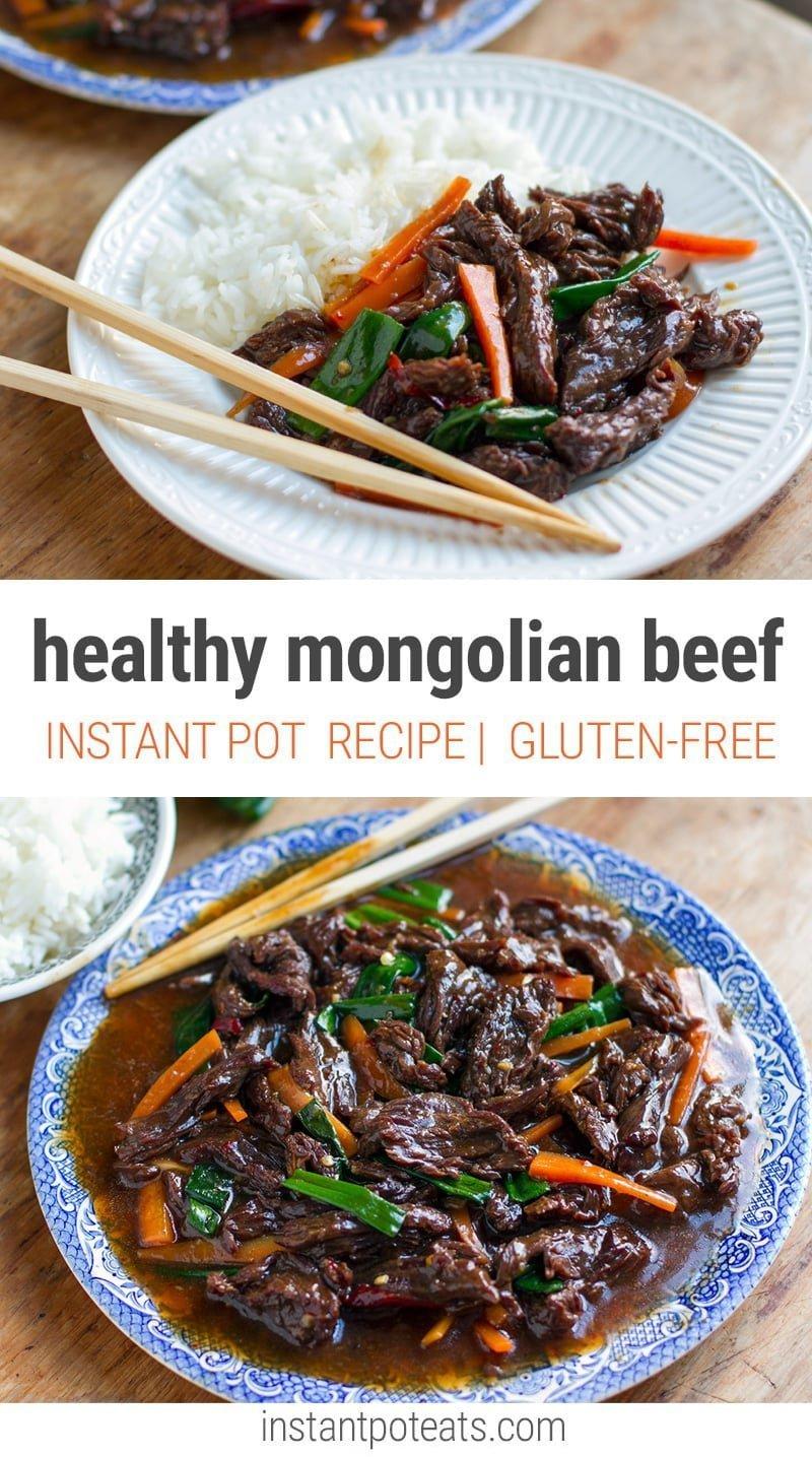 Instant Pot Mongolian Beef - Healthy Pressure Cooker Recipe