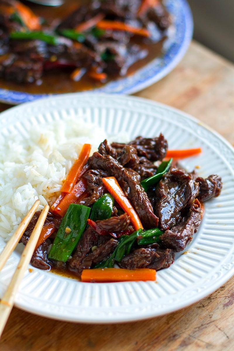 Flank steak Instant Pot Mongolian Beef recipe