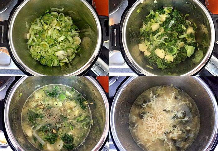 How to make Instant Pot potato leek soup