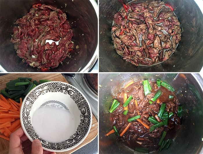 Making Flank Steak or Skirt Steak Instant Pot Mongolian Beef