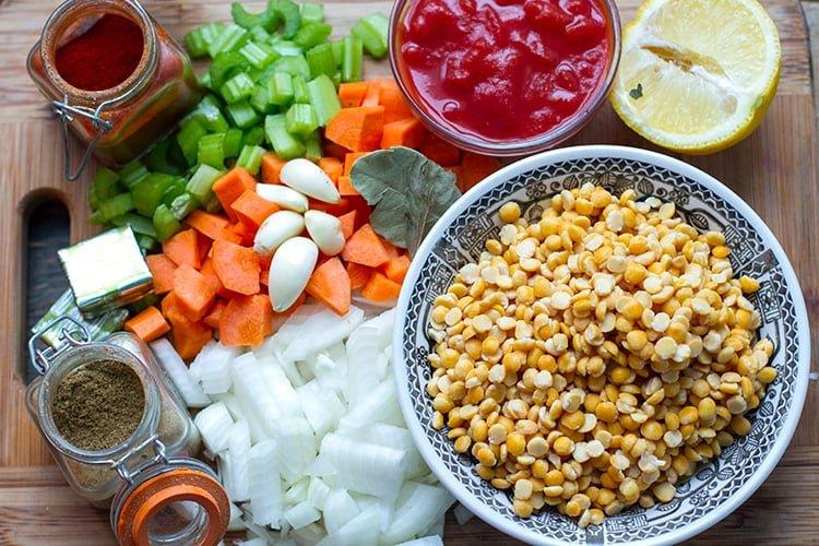Instant Pot Split Pea Soup Ingredients