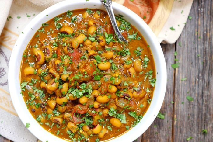 Instant Pot Indian Recipes - Black-Eyed Pea Curry