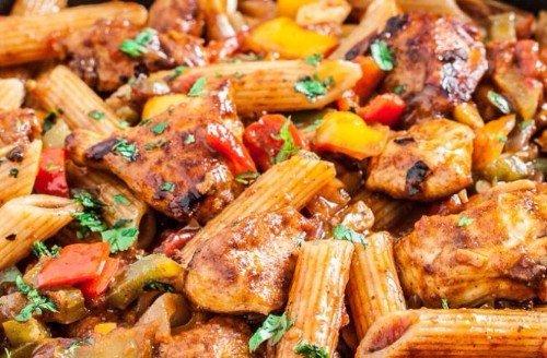 Chicken Fajita Pasta Instant Pot