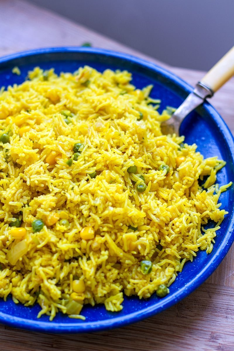 Instant Pot Yellow Rice With Corn Peas Instant Pot Eats