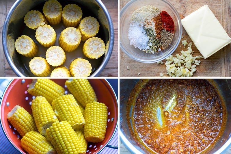 Corn on the cob instant pot - steps