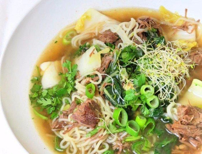 Instant Pot Thai Beef Noodle Soup