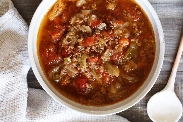 Instant Pot Beef, Cabbage, & Tomato Soup