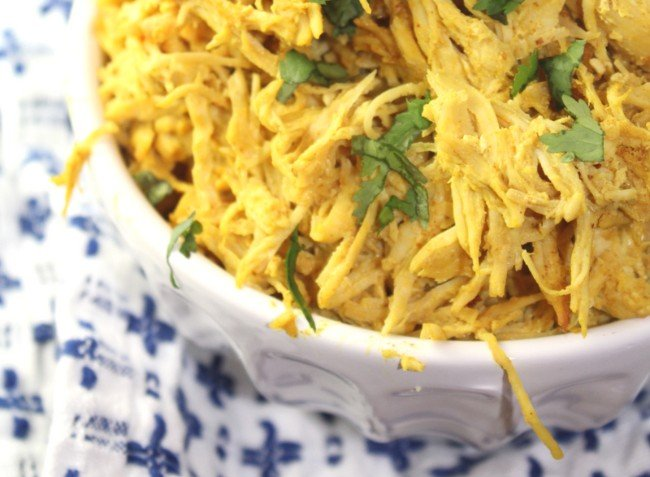 Pulled chicken tandoori style