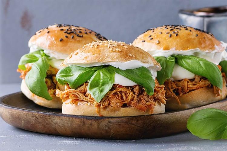 Shredded Chicken Burgers