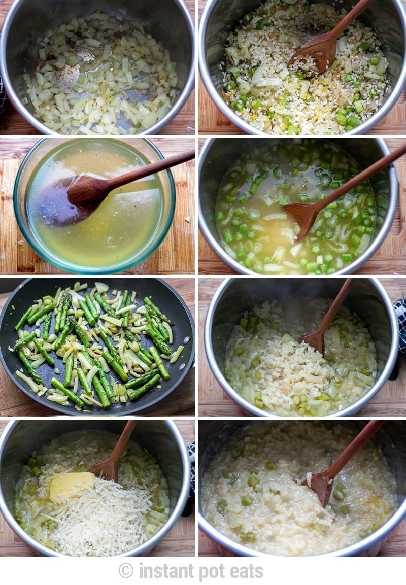 How to make Instant Pot asparagus risotto step-by-step pictures