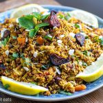Instant Pot Rice Pilaf With Lamb, Figs & Almonds