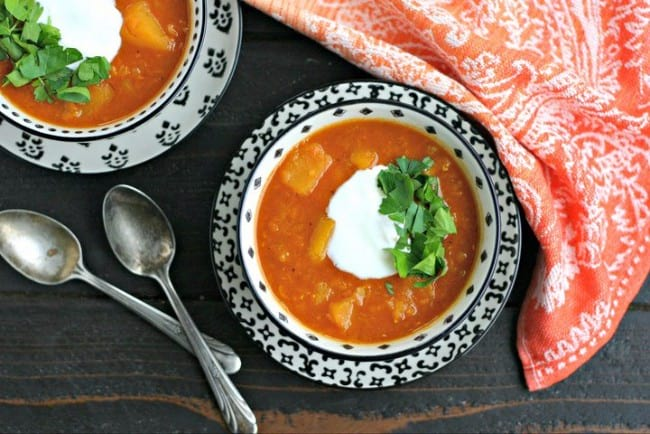 Red Lentil Soup with Butternut Squash