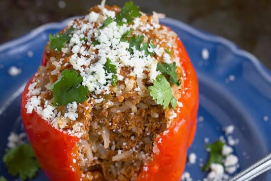 Mexican Instant Pot Stuffed Peppers