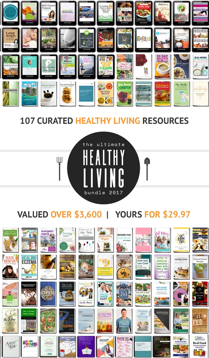 Ultimate Healthy Living Bundle 2017 - Get over 100 healthy living eBooks and eCourses, valued over $3,600, for only $29.97. The bundle includes two Instant Pot cookbooks. This bundle is only available once a year and is on sale until Monday, 25th of September. Find out more here: https://instantpoteats.com/the-best-30-you-will-spend-this-week-heres-why/