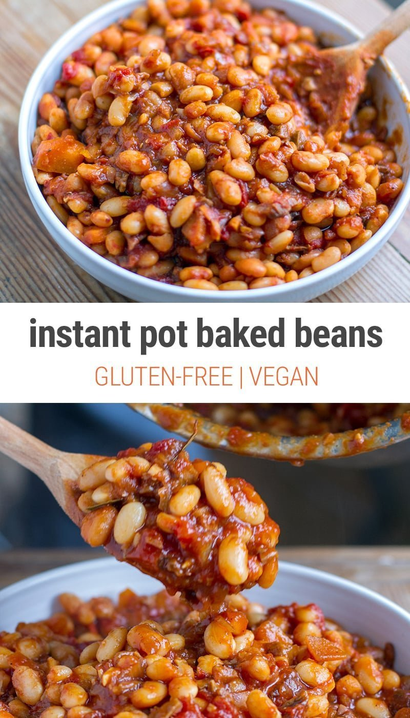 Secret Ingredient Instant Pot Baked Beans (vegan, GF)