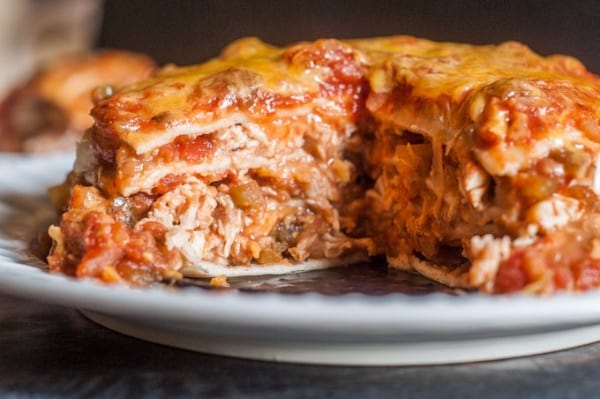 Instant Pot Chicken Burrito Lasagna