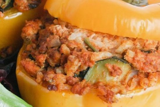 Chorizo Instant Pot Stuffed Peppers