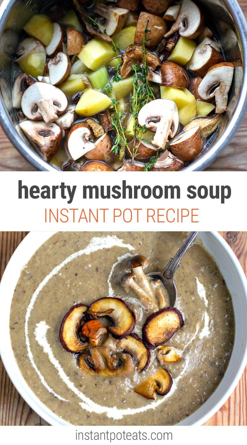 Creamy Instant Pot Mushroom Soup