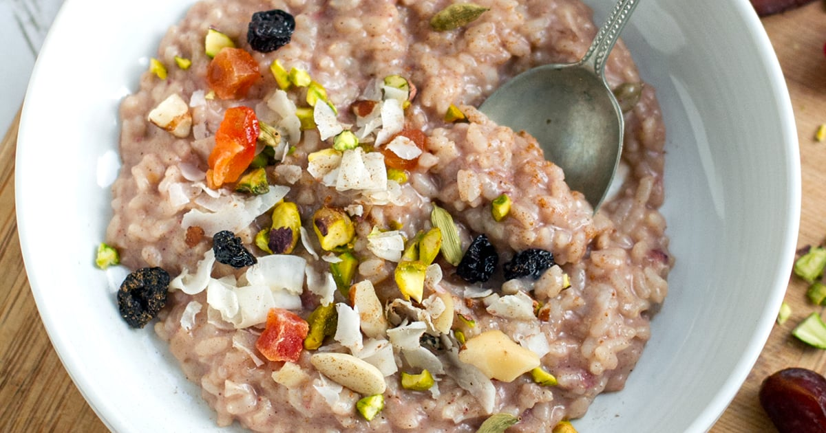 Healthy Instant Pot Rice Pudding Chai Spiced