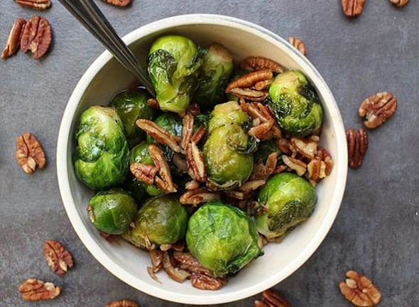 Smoky Instant Pot Pecan Brussels Sprouts