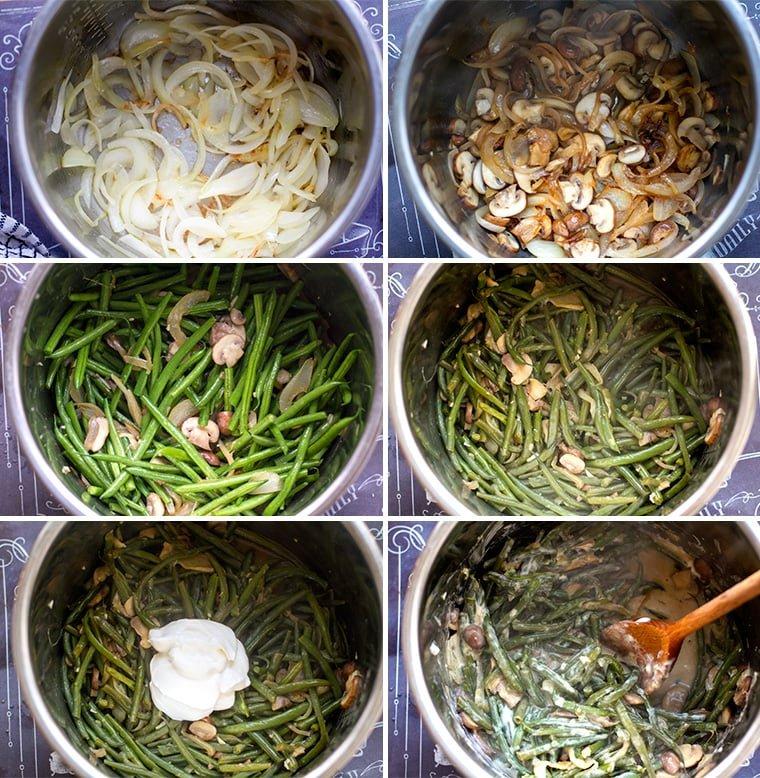 Green Bean Casserole Instant Pot instructions