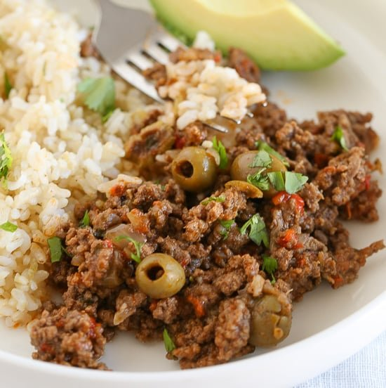 Instant Pot Ground Beef Picadillo