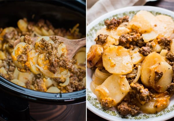 Slow Cooker Beef & Potato Au Grautin