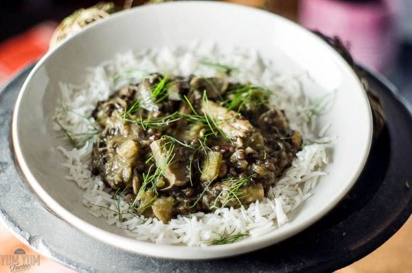 Chicken & Beluga Lentils