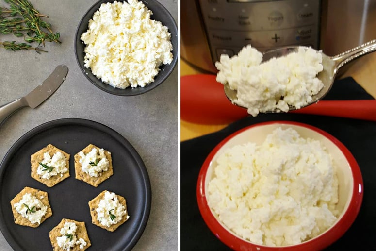 Instant Pot Ricotta & Cottage Cheese