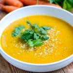Carrot Cilantro & Lemongrass Soup - Instant Pot recipe