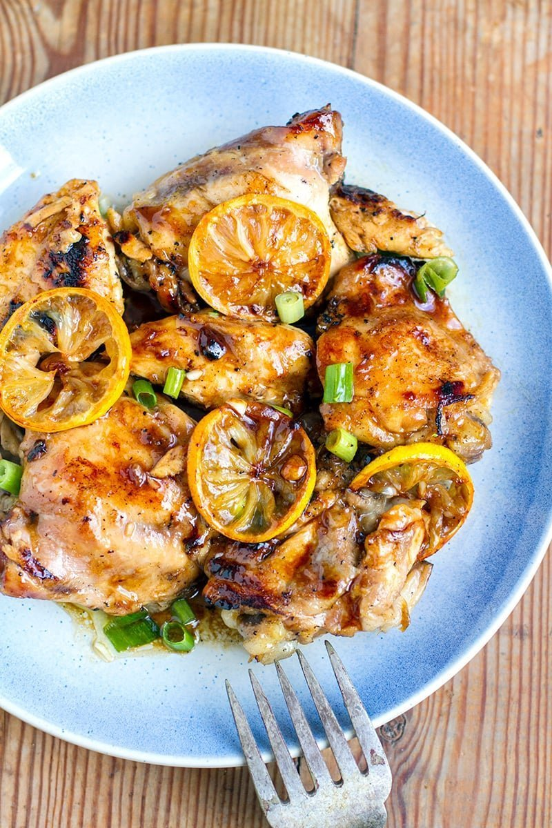 Instant Pot Chicken Thighs With Honey Lemon Glaze