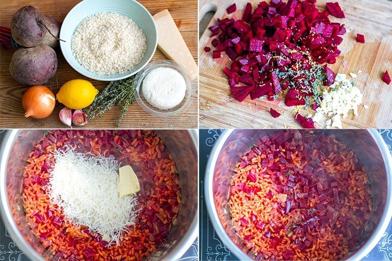 How to make Instant Pot risotto with beets