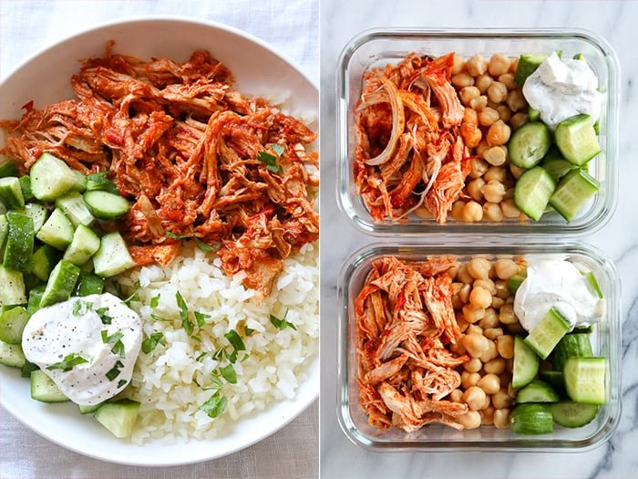 Instant Pot meal prep - shredded chicken