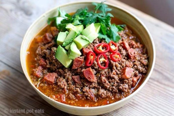 Chili Beef With Chorizo Pressure Cooker