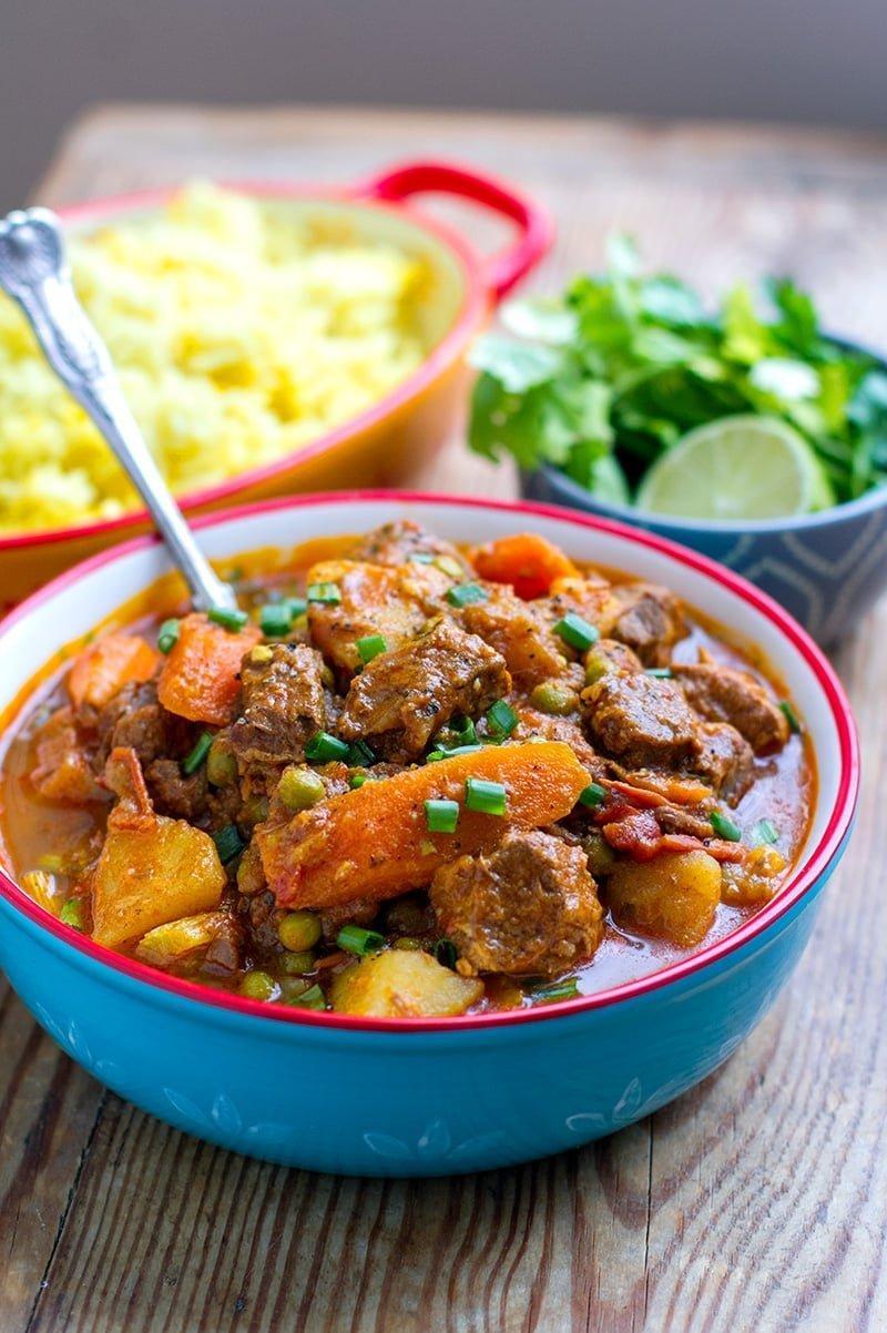 Moroccan Instant Pot Lamb Stew With Potatoes & Carrots