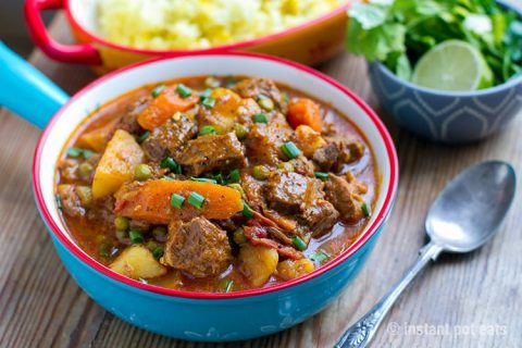 Instant Pot Moroccan Lamb Stew With Potatoes