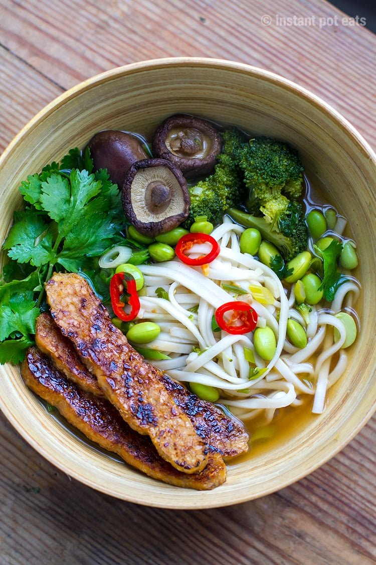 Pressure Cooked Vegan Udon Soup