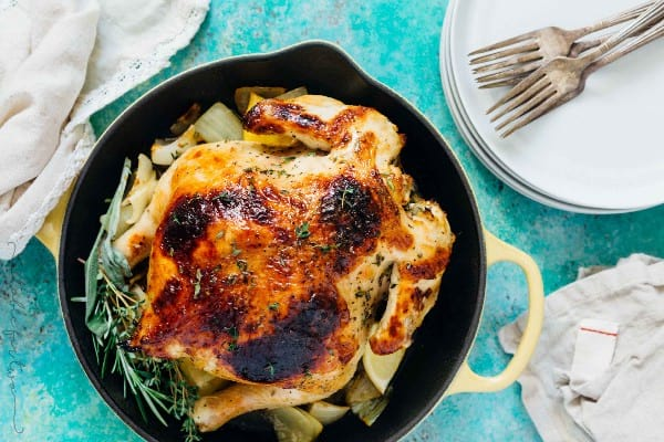 Honey Butter & Herb Roasted Instant Pot Chicken