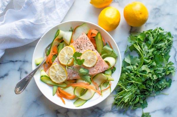 Lemon Garlic Instant Pot Salmon